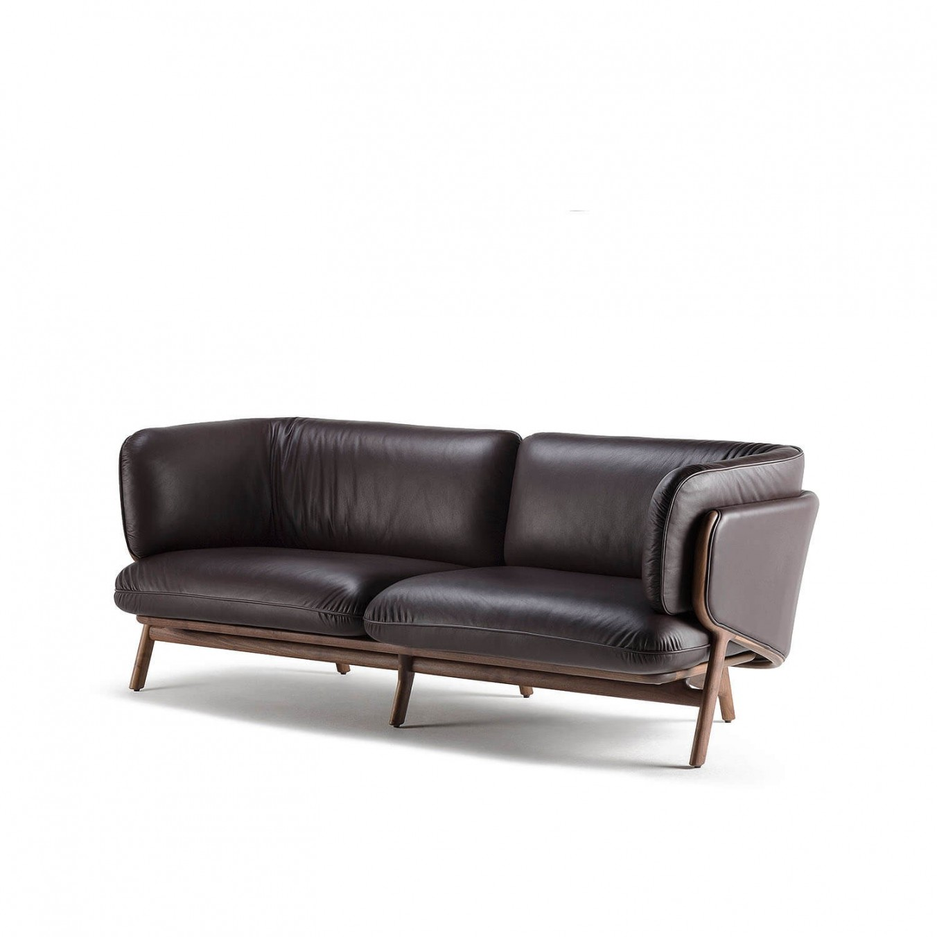 A black leather chair Description automatically generated
