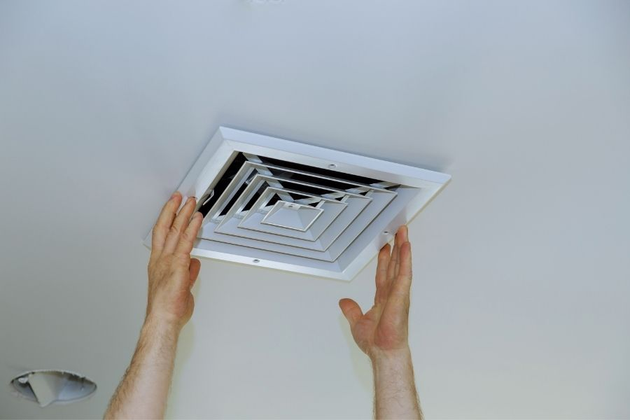 Typical Installation of an Attic Fan Cover